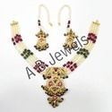 Gold Jadau Necklace