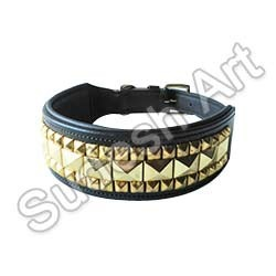 western floral dog leather collar