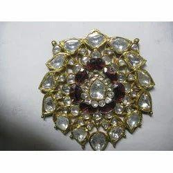 Jadau Traditional Gold Pendant