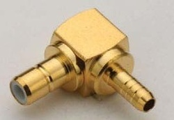 SMB Female Right Angle Crimp Connector