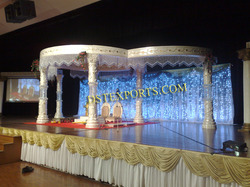 Latest Wedding Round Crystal Mandap