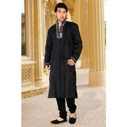 Black Silk Kurta Suits