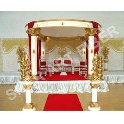 Wedding Round Pillars Mandap