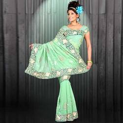 Faux Embroidered Georgette Sarees