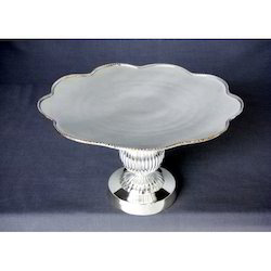 Aluminium Silver Plated Cake Stand