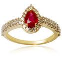 Bangkok Ruby Ring With Diamonds