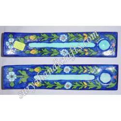 Blue Pottery Incense Holder