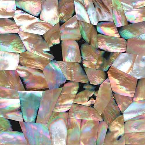 Pink Mother Of Pearl Shell Tiles