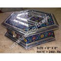 White Metal Meena Painting Satkon Jewellery Box