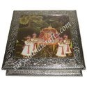 White Metal Dolly Painting Jewelery Box