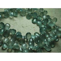 Moss Aquamarine Faceted Briolettes