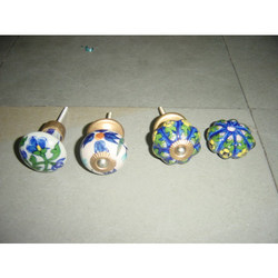 Blue Pottery Knobs