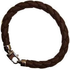 Brown Leather Braided Bracelet