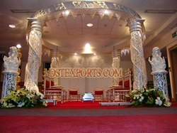 Wedding Round Fiber Crystal Mandap