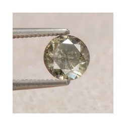 0.62 Ct Certified African Grey Diamond Solitaire