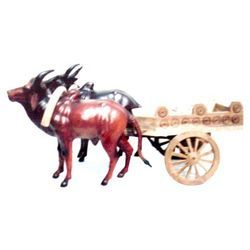 Wooden Bull Cart