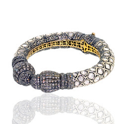 Rose Cut Diamond Vintage Bangles