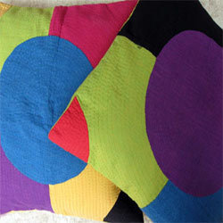 Circular Applique Cushion Covers