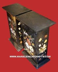 Marble Inlaid Pedestals