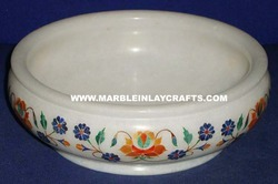 Decorative Marble Inlay Bowl