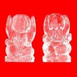 Crystal Lakshmi Ganesha Idol