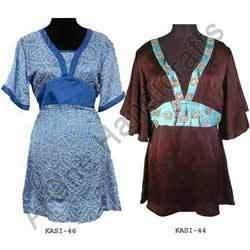 V Neck Kaftan Dress