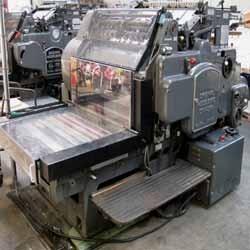 heidelberg cylinder letterpress machine