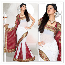 Georgette Lehanga Saree With Blouse (194)
