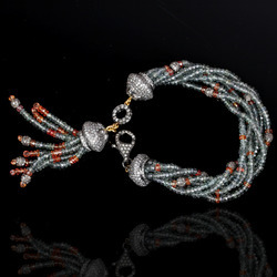 Designer Color Stone Diamond Tassel Bracelets