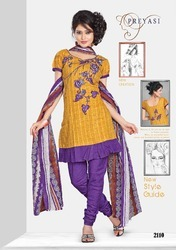 Preyasi Maroon Ladies Salwar Suits Dress Material