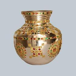 silver plating gold polish mangal kalash