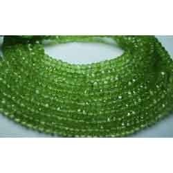 Peridot Faceted Rondelles