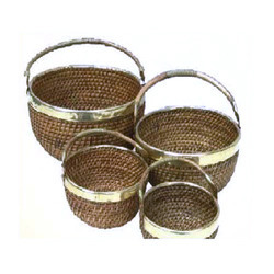 Cane And Ratten Round Deep Bowl