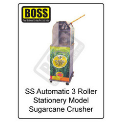 3 roller type sugarcane crusher
