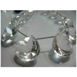 Quality Crystal Quartz Faceted Huge Size Briolettes