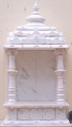 Carved White Marble Temple