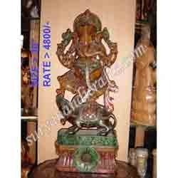 Wooden Painting Ganesh