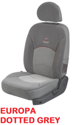 europa dotted grey microfibre car seat covers