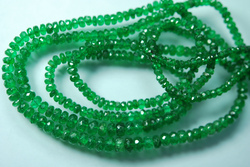 Emerald Faceted Rondelles