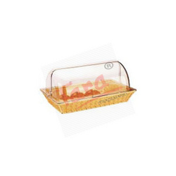 Polypropylene Rectangular Rattan Basket With PC Roll Cover