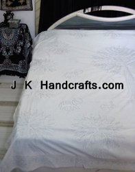 Golden Embroidered Handcrafted Bedspreads