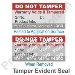 Evident Tamper Labels