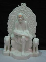 Beautiful Sai Baba Statue from White Marble