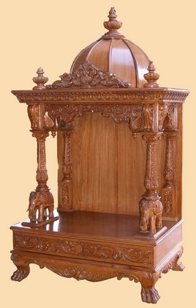 Antique Wooden Temples Simple Temple Exporter From Nadiad