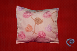Cushion Cover With Pink Floral Embossed Pattern