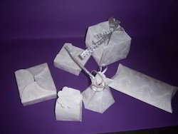 White Embossed Paper Chocolate Boxes