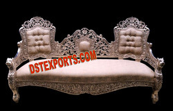 Wedding Silver Metal Victorian Sofa