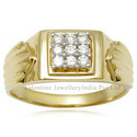 Mens 18K Gold Ring