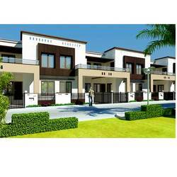 Duplex House Designs on Commercial Real Estate   Ark City  Entrance View Plan  Ark City Duplex