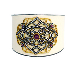 Gold bangle diamond jewelry